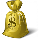 Moneybag Dollar Icon 128x128