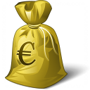 Moneybag Euro Icon 128x128