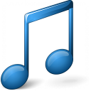 Music Blue Icon 128x128