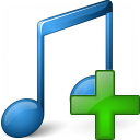Music Blue Add Icon 128x128