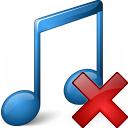 Music Blue Delete Icon 128x128