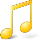 Music Yellow Icon 128x128