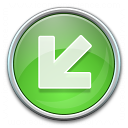 Nav Down Left Green Icon 128x128