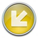 Nav Down Left Yellow Icon 128x128