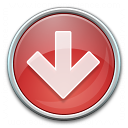 Nav Down Red Icon 128x128