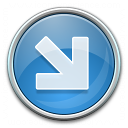 Nav Down Right Blue Icon 128x128