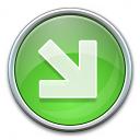Nav Down Right Green Icon 128x128