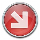 Nav Down Right Red Icon 128x128