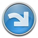 Nav Redo Blue Icon 128x128