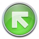 Nav Up Left Green Icon 128x128