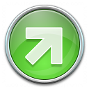 Nav Up Right Green Icon 128x128