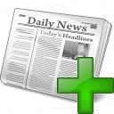Newspaper Add Icon 128x128