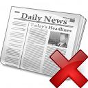 Newspaper Delete Icon 128x128