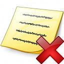 Note Delete Icon 128x128
