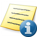 Note Information Icon 128x128