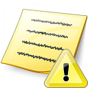 Note Warning Icon 128x128