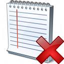 Notebook Delete Icon 128x128