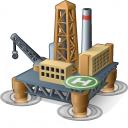 Oil Platform Icon 128x128