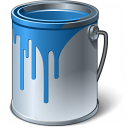 Paint Bucket Blue Icon 128x128