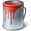 Paint Bucket Red Icon 128x128