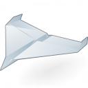 Paper Jet Icon 128x128