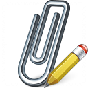Paperclip Edit Icon 128x128