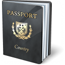 Passport Black Icon 128x128