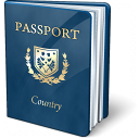 Passport Blue Icon 128x128