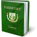 Passport Green Icon 128x128