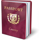 Passport Purple Icon 128x128