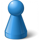 Pawn Blue Icon 128x128