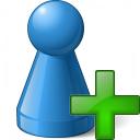 Pawn Blue Add Icon 128x128