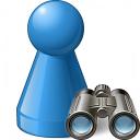 Pawn Blue Find Icon 128x128