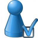 Pawn Blue Preferences Icon 128x128