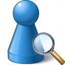 Pawn Blue View Icon 128x128