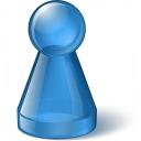 Pawn Glass Blue Icon 128x128