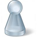 Pawn Glass Grey Icon 128x128