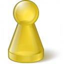 Pawn Glass Yellow Icon 128x128