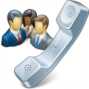 Phone Conference Icon 128x128