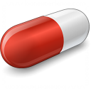 Pill Red Icon 128x128
