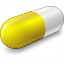 Pill Yellow Icon 128x128