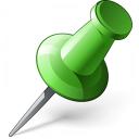 Pin 2 Green Icon 128x128