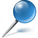 Pin Blue Icon 128x128