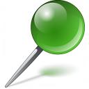 Pin Green Icon 128x128