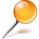 Pin Orange Icon 128x128