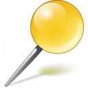 Pin Yellow Icon 128x128