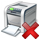 Printer Delete Icon 128x128