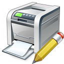 Printer Edit Icon 128x128