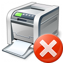 Printer Error Icon 128x128