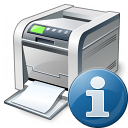Printer Information Icon 128x128